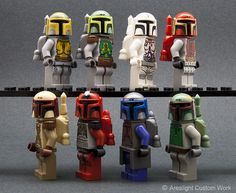 LEGO Star Wars Custom Mandalorian Minifigs by Arealight Custom Works