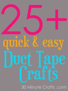 Duct Tape is trending! Here are 25 easy duct tape crafts. #DuckTape #Duct