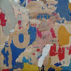 Christian Gastaldi MAR-POI 14 20 x 20 cm - Old posters on canvas