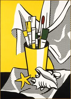The Roy Lichtenstein Foundation- This painting is at the Nelson Atkins Museum in Kansas City. Why do you think Lichtenstein painted a still life like it was a comic? What does this say about what he thinks about art?