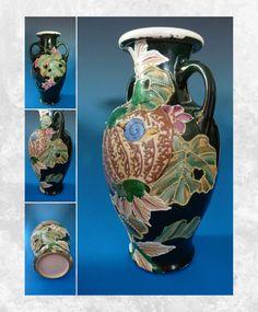 Antique Porcelain Japanese Nippon Moriage Swallow Vase