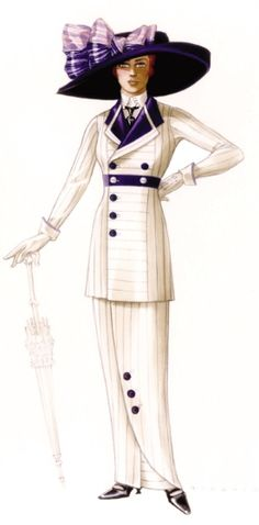 "Costume sketch by Deborah Lee Scott for James Cameron's Oscar-winning ""Titanic"" Titanic Costume, Titanic Dress, Fashion Images, Fashion Art, Vintage Fashion, Fashion History, Belle Epoque, Fashion Design Classes, Costume Design Sketch"