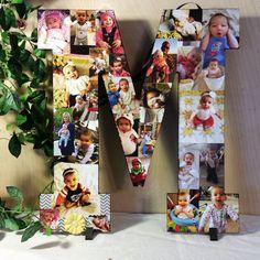 Custom Photo Collage, Custom Photo Display, Personal Photo Collage, Wood Letters, Personal Collage, Photo Collage, Customized Photo Letters by LybelleCreations on Etsy