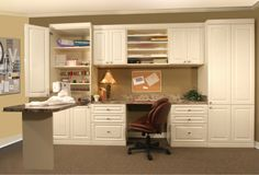 Check out this home office with a built-in side desk! Call us today for a free…