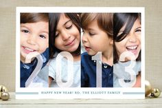 Frosted Windows New Year's Photo Cards by Snow and Ivy at minted.com