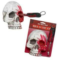 Bloody Skull with Pick in the Eye from Windy City Novelties