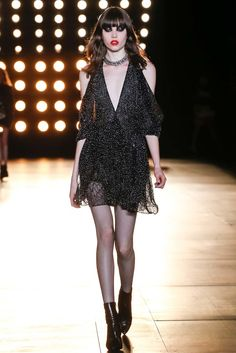 Saint Laurent Fall 2015 Ready-to-Wear Fashion Show - Grace Hartzel