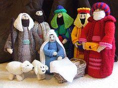 Make It: Christmas Nativity Scene - Free Knitting Pattern #knitting #ravelry #amigurumi