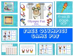 Olympic Fun and Vocabulary (free printable) by Carolyn at Wise Owl Factory at PreK + K Sharing