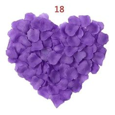 New Arrival 2018 Cheap Silk Rose Flower Petals 1000 pcs/lots wedding accessories Marriage Wedding Rose Petals Romantic Flower