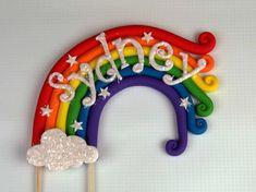 Fondant Rainbow Cake Topper 8