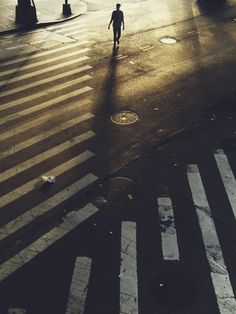Street crossing. Lazy golden afternoon light.
