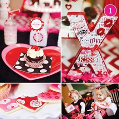 {Party of 5} Valentine Playdate, Football Party, James Bond Birthday, Teddy Bear Shower & Pink Zebra