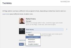Set & Manage Admin roles on Facebook Pages