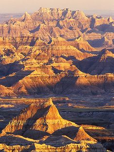 Badlands National Park, South Dakota Went here with my family as a kid. Such a beautiful place and tons of hiking.