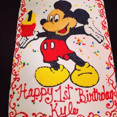 Mickey Mouse Cake. www.enchantingcake.com