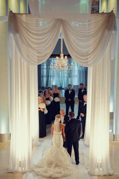 Beautiful White Chuppah Wedding / Event Wedding design by Kehoe Designs: kehoedesigns.com/ Chicago, IL