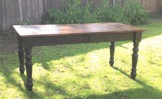 Monogrammed Family Farm Table made with 100+ year old reclaimed barn wood