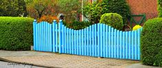 Use a mix of hedge and fence to create a look that adds wow to your yard
