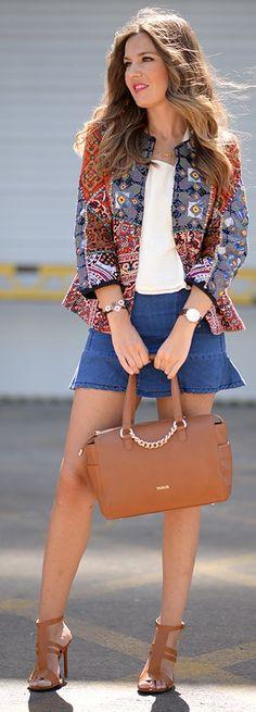 Cute Print Jacket by Mi Aventura Con La Moda