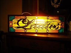 Stained glass Ladies sign made by me, Vicky True-Baker.