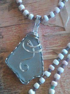 "Sea Glass Jewelry Necklace 28"" Handmade BEACH Hawaii Pink White Conch Sea Shell #SeaGlassSunshineHandMade #Pendant"