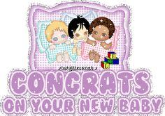 Purple Glitter Congratulations | Congrats New Baby Purple picture