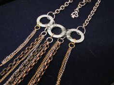 Industrial Trinity Statement Necklace