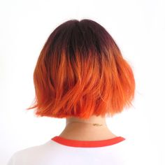 "leskoletsgo: "" V2.0 of my fire hair. There is also a blog post about this! Bleach London Tangerine Dream. """