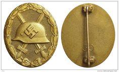 Germania Distintivo placcato oro. gold plated tombac, , 44x36 mm, 33.78 gm, qFDC…