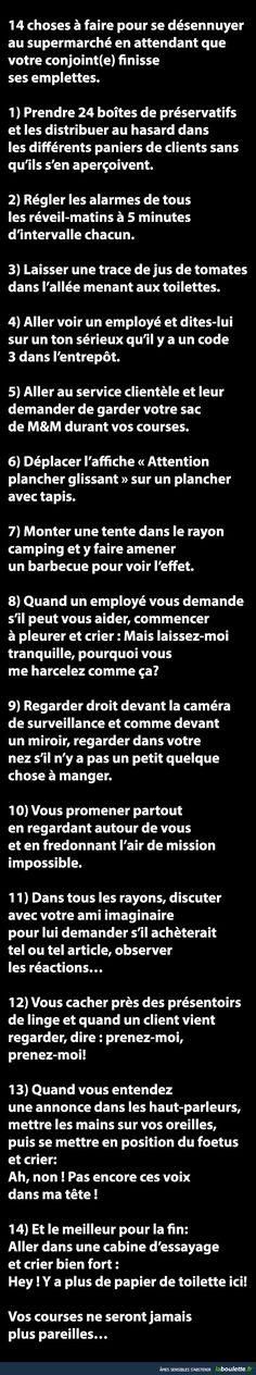14 choses à faire pour se désennuyer au supermarché. | LABOULETTE.fr - Les meilleures images du net!