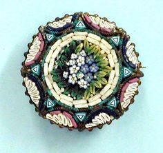 Vintage Jewelry, Florentine Mosaic Pin