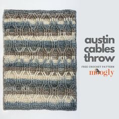 Austin Cables Throw - Free Crochet Pattern on Moogly!