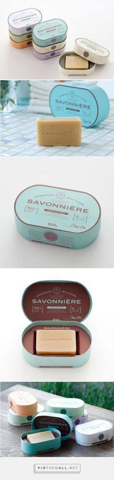 Soap Savonnière — The Dieline - Branding & Packaging. It's possible to stamp your own soap using a custom stamp from www.rubberstamps.net! It won't work for everything, but with the right design, it looks great!