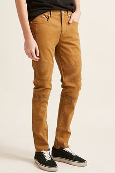 Product Name:Slim-Fit Moto Pants, Category:CLEARANCE_ZERO, Price:28