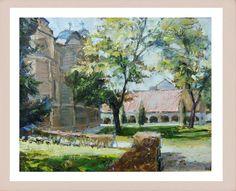 Dragoljub Stankovic Civi - Saborna crkva u Leskovcu - ulje na platnu - 50x40 cm - 2012.   Dragoljub Stankovic Civi - Church in Leskovac (Serbia) - oil on canvas - 50x40 cm - 2012.