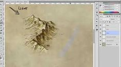 How to draw, shade, and colour a mountain range - Fantastic Maps Mountain Sketch, Mountain Drawing, Mountain Illustration, Fantasy Illustration, Napa Map, Map Icons, Medieval, Water Drawing, Illustrator Tutorials