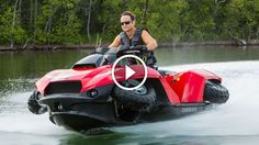 How Cool Is This? From an ATV Quad Bike to Jet Ski in 5 Seconds? Quadski!