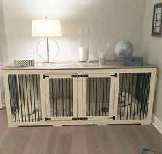 Indoor Wooden Dog Kennel... Very cool.. What do you think ??