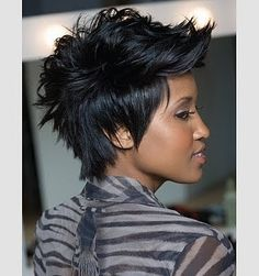 Chrisette Michele Album Cover Mohawk Hairstyle | Celebrity Inspired Style, Hair, and Beauty