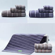 3pc 100%Cotton Luxury Hand Face Bath Towels Washcloth Set Comb High Quality #Beroyal