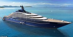 'Somnio' will launch in 2024 and, with a length of 222m (728ft), will be easy to spot from the outside Big Yachts, Super Yachts, Jet Ski, Beach Club, Die Titanic, Private Yacht, Luxury Condo, Luxury Houses, Luxury Life