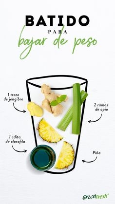 Los batidos naturales son una de las mejores opciones para bajar de peso sin pas… Natural shakes are one of the best options to lose weight without going hungry and also maintain good nutrition. Detox Juice Recipes, Juice Cleanse, Cleanse Detox, Cleanse Recipes, Veggie Juice, Full Body Detox, Natural Detox Drinks, Best Detox, Best Weight Loss Plan