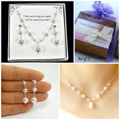 Wedding gifts for mother of the bride & groom #pearljewelry #weddings #bride #bridal