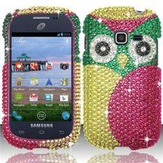 INSTEN For Samsung Galaxy Discover S730g/Galaxy Centura S738c Full Diamond Case - Owl