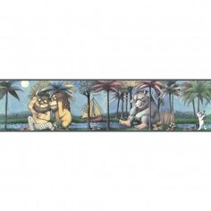 Room Mates Licensed Designs Where the Wild Things Are Border - RMK1419BCS