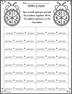 Spin and Add Spin and Add is a fun, hands-on activity that engages students as they practice addition fact fluency. These games can easily be used in small group instruction, math centers, whole class activity, as a supplemental to your math curriculum, as a fast finisher activity, or to differentiate your instruction. There is no prep for this resource. Ready to simply print and play!