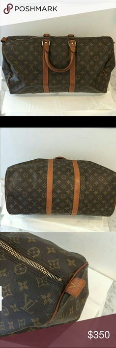 Authentic Louis Vuitton duffle bag keepall 45 Vintage in usable condition. 100% authentic Louis Vuitton Bags Travel Bags