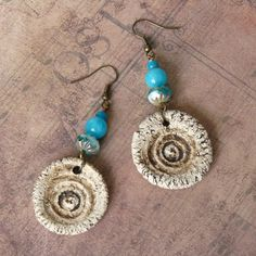 Tribal Earrings, bleuluciole jewelry, Etsy shop Etsy jewelry, Etsy earrings  https://www.etsy.com/fr/listing/466758119/boucles-doreilles-style-tribal-brute