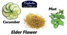 English Garden Kombucha by Kombucha Kamp - Cucumber, Mint & Elder. Informations About Elderflower Kombucha How To Make, How To Make Drinks, Food To Make, Kombucha Flavors, Kombucha Recipe, Tea Recipes, Raw Food Recipes, Smoothie Drinks, Smoothies